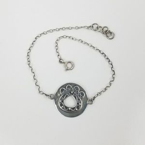 Jewelry - Filigree Cutout Lotus Paw Sterling SILVER Bracelet